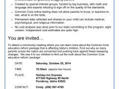 North Idaho Common Core Events